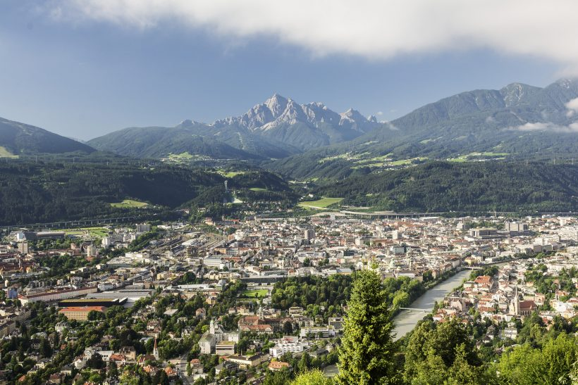 Innsbruck with view on Mountains