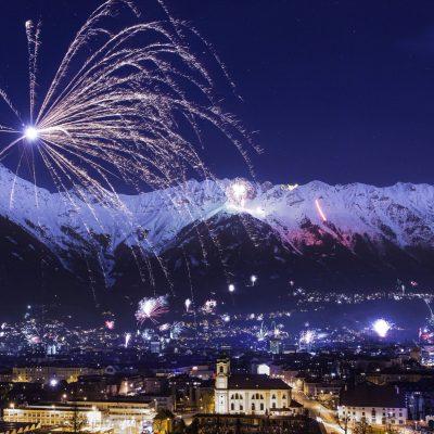 Fireworks in Innsbruck