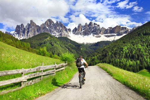 Biking in the Dolomites