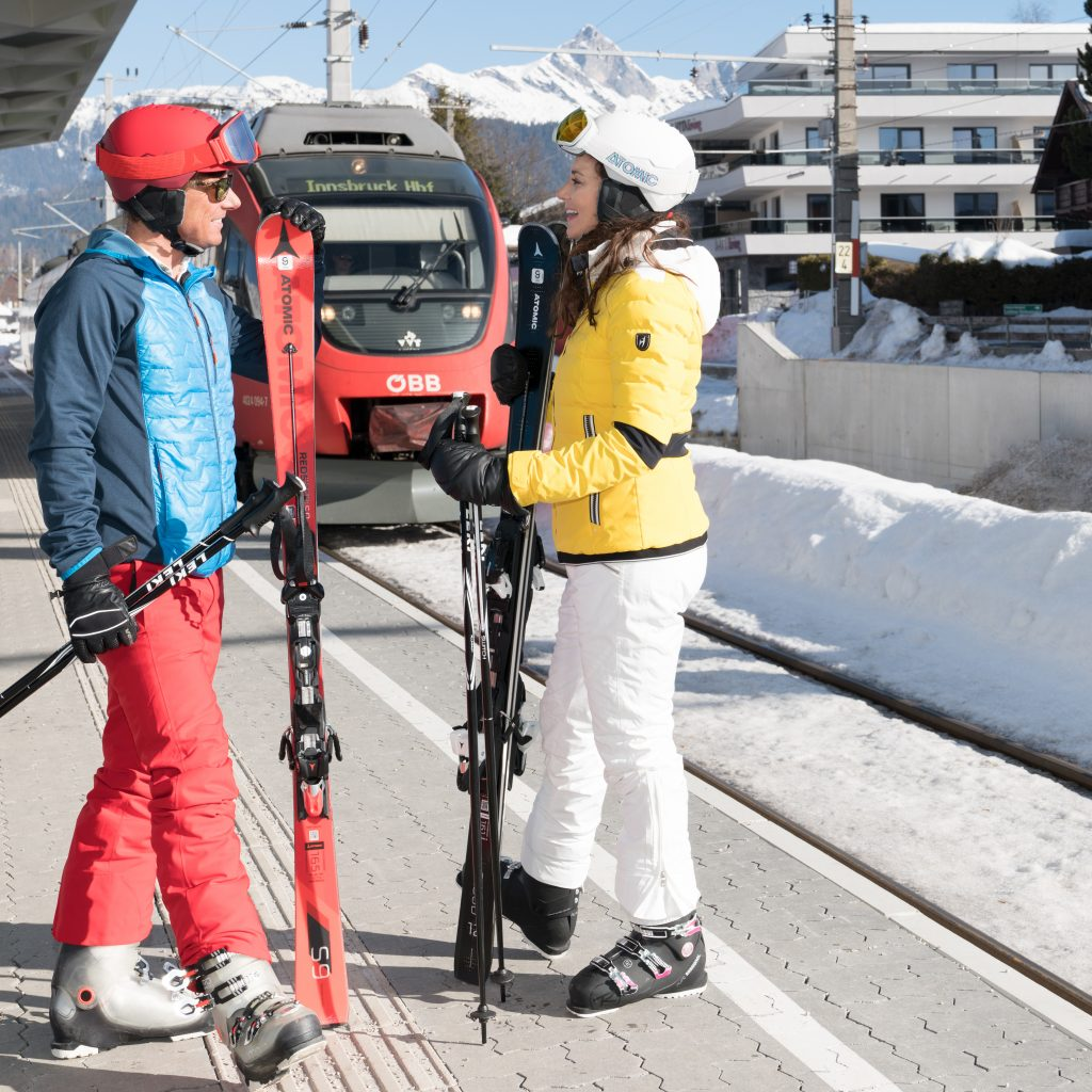 Using the Train for Skiing