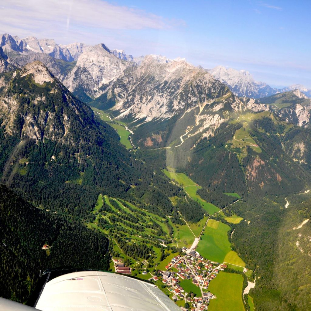 Flying above the Alps