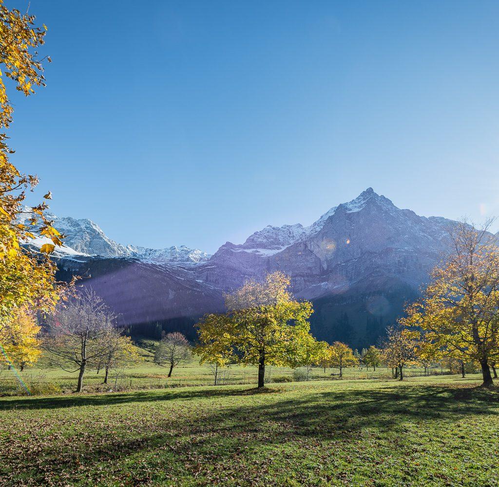 alps karwendl autumn