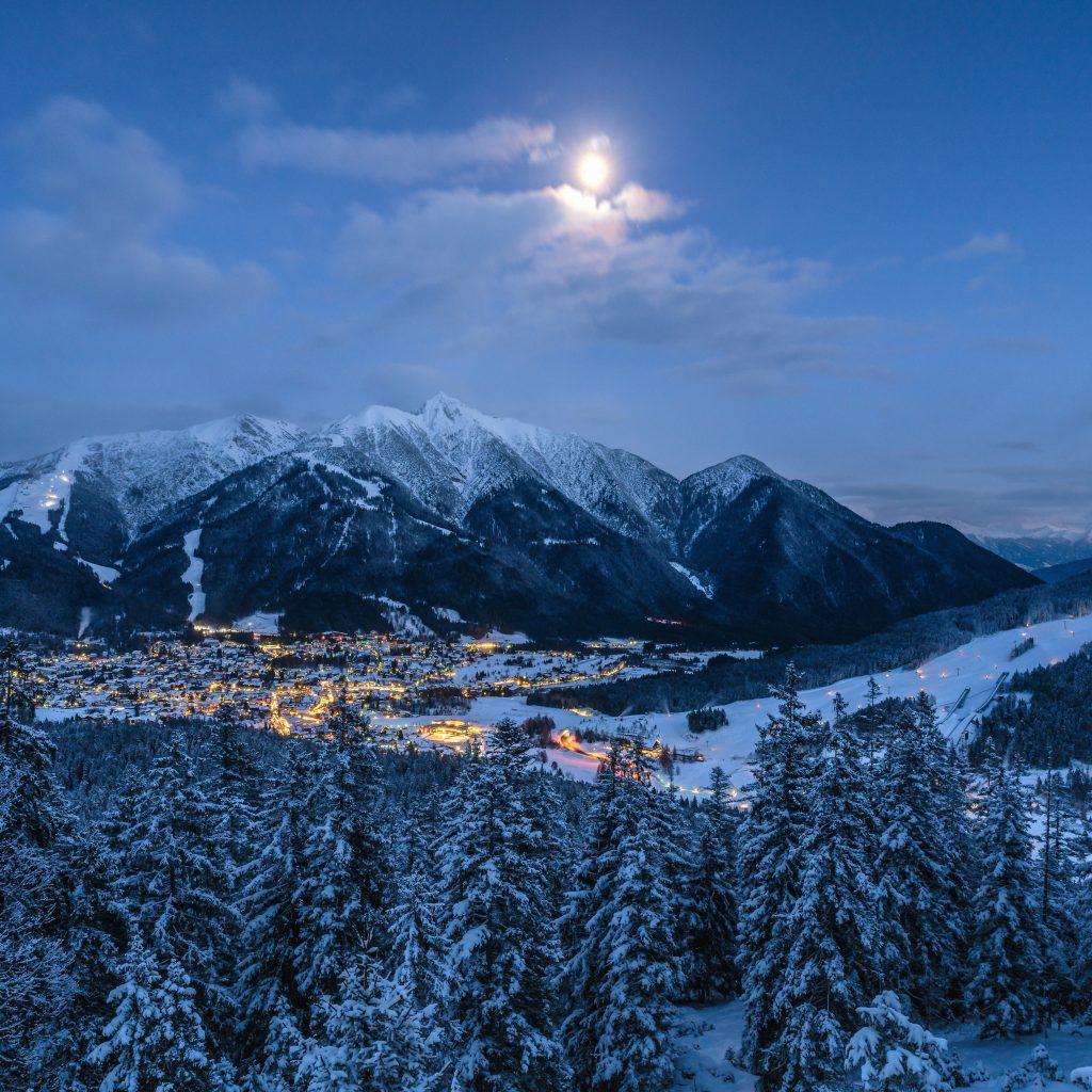 Seefeld winter with snow