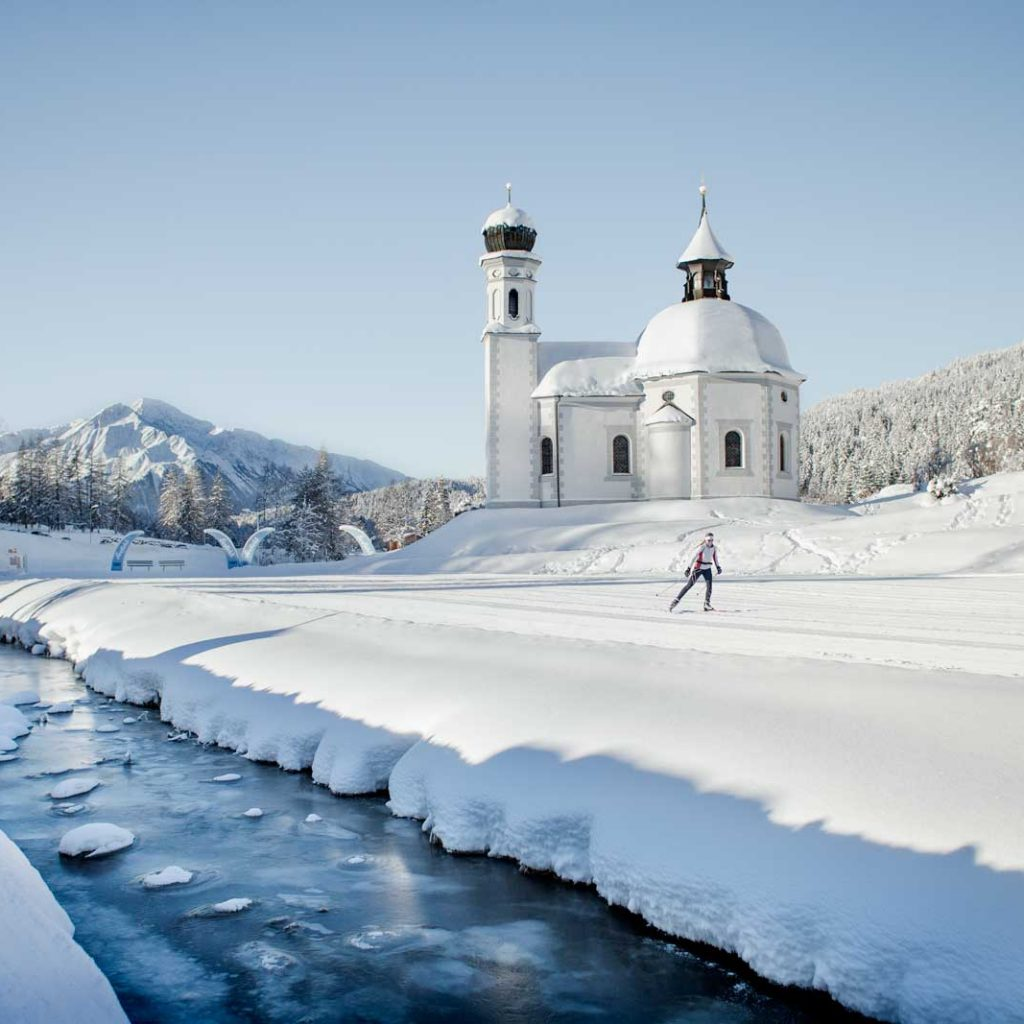 Crosscountry Skiing in Seefeld Winter