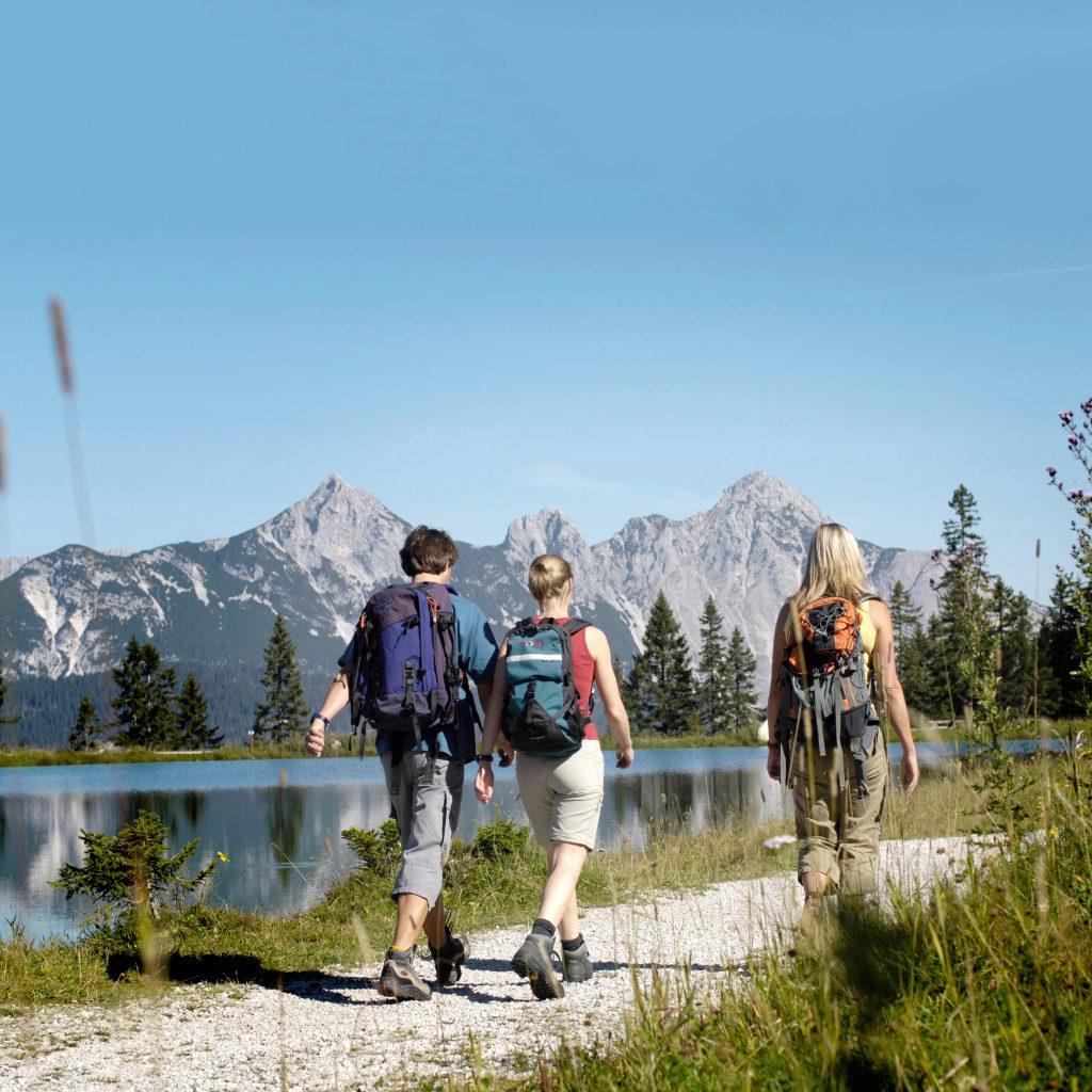 Seefeld hiking at lake