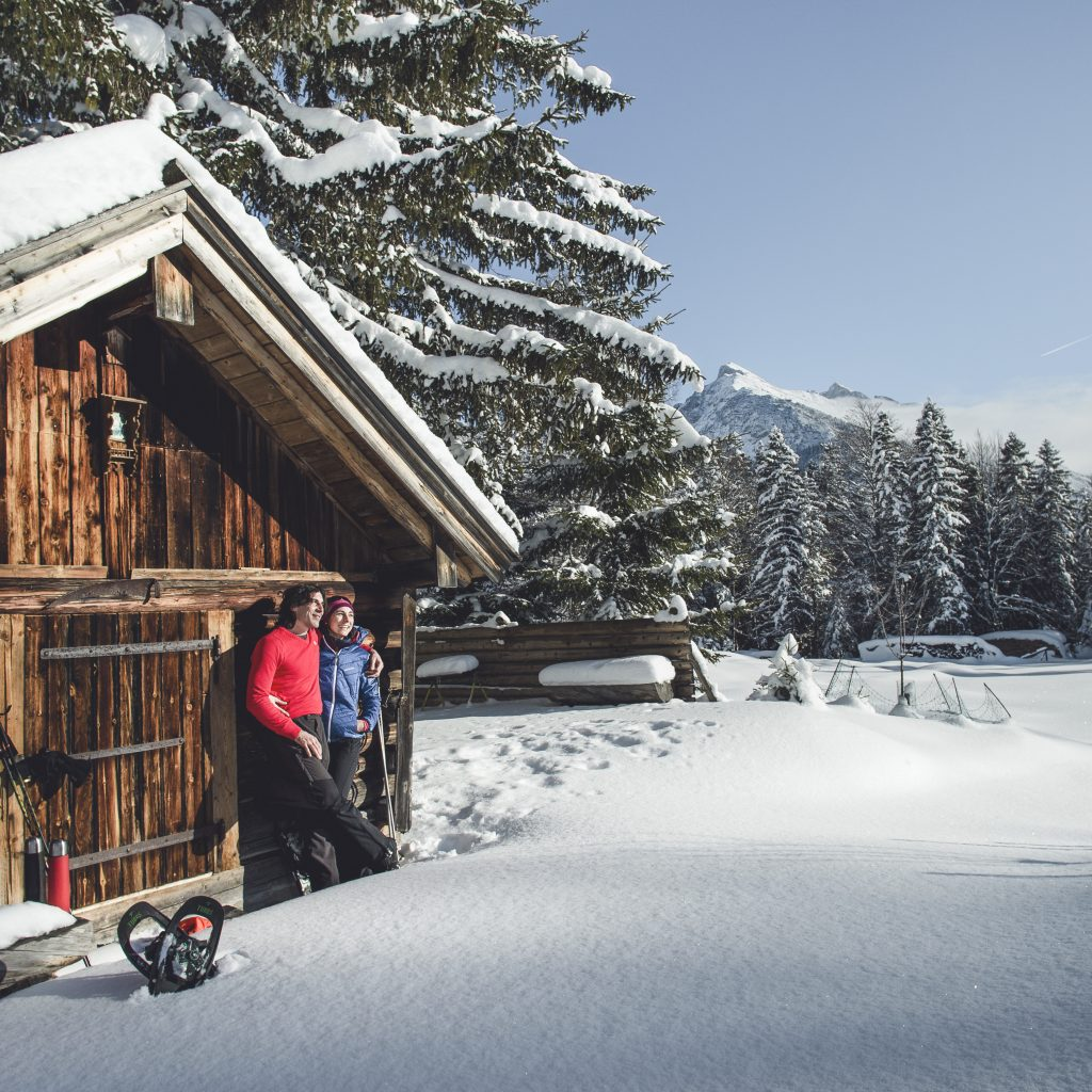 snowshoe hiking seefeld winter